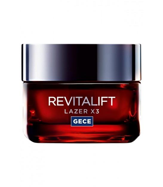 کرم شب رویتالیفت صورت لورال -Paris Revitalift Laser X3 Anti-Aging Night Cream 50 Ml