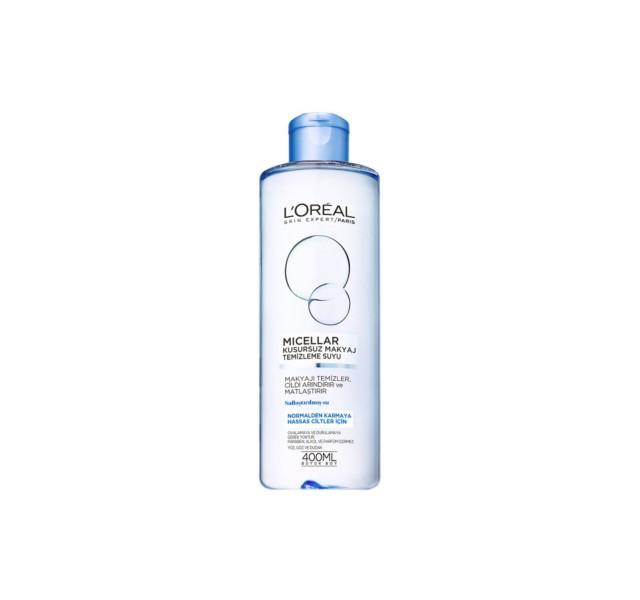 میسلار واتر صورت لورال -Micellar Flawless Makeup Cleansing Water For Normal & Combination And Sensitive Skin 400ml