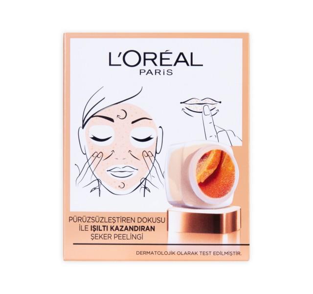 اسکراب شکری صورت لورال -L'oréal Paris Sugar Scrub Shine Refreshing