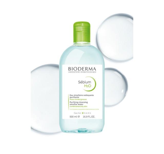 محلول پاک کننده سبیوم H2O میسلار بایودرما 500 میل - Bioderma Sebium H2o Solution Micellaire