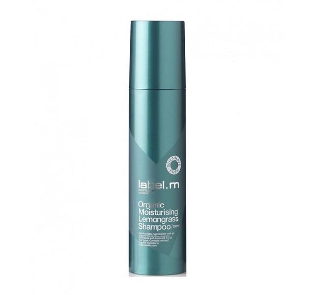 شامپو مرطوب کننده مو با عصاره لیمو لیبل ام مدل Organic Moisturising Lemongrass Shampoo