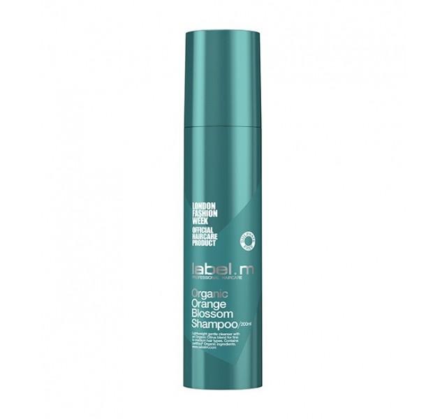 شامپو حجم دهنده طبیعی مو با عصاره پرتقال لیبل ام مدل Organic Orange Blossom Shampoo