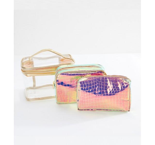 کیف لوازم آرایش 3 تایی مکبث Macbeth 3-Piece Cosmetic Bag Set