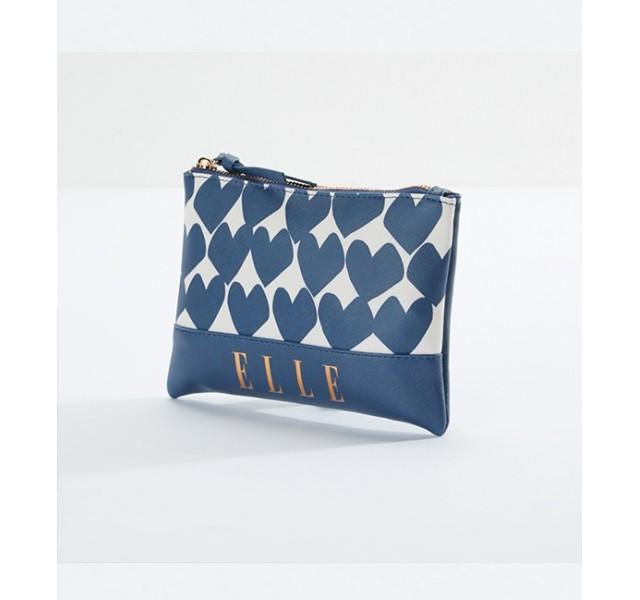 کیف لوازم آرایش طرحدار اله ELLE Hearts Printed Pouch with Zip Closure
