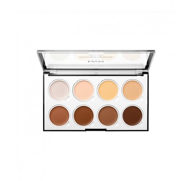 پالت کانتور و هایلایت نیکس NYX Highlight and Contour Cream Pro Palette