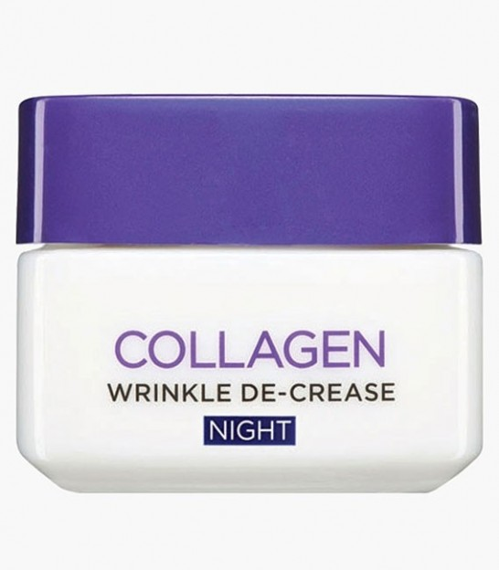 کرم کلاژن شبانه لورال L'Oreal Collagen Wrinkle De-Crease Night Cream