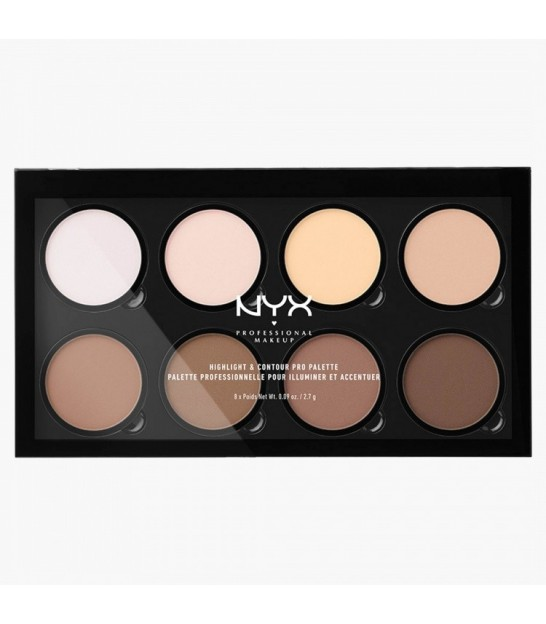 پالت هایلات و کانتور نیکس- NYX Professional Make Up Highlight and Contour Pro Palette