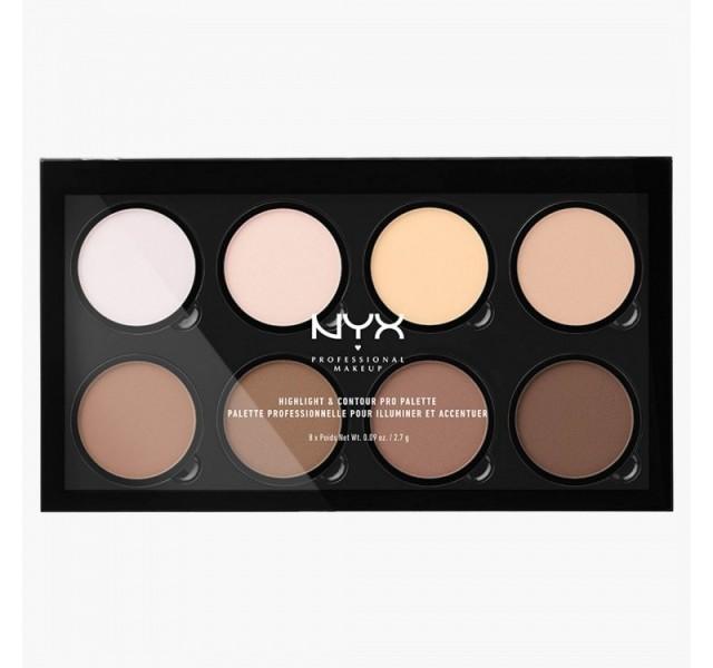 پالت هایلات و کانتور نیکس- NYX Professional Make Up Highlight and Contour Pro Palette