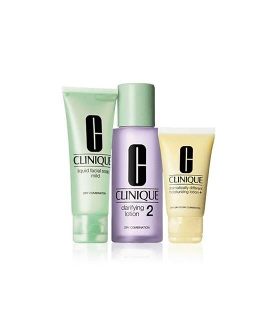 پک تمیز کننده کلینیک -3-Step Skin Care Set - Skin Type 2 Dry