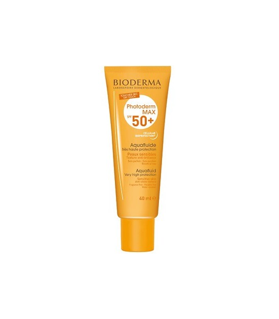 کرم ضد آفتاب بی رنگ فتودرم بایودرم SPF 50 مدل Max Aquafluide