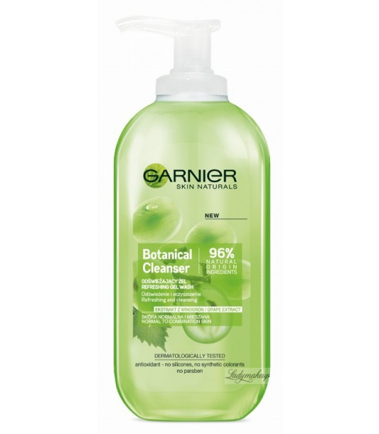 ژل شستشوی صورت گارنیر GARNIER Botanical Cleanser Grape Extract