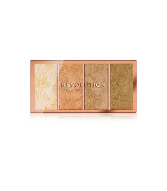 پالت هایلایتر رولوشن REVOLUTION Vintage Lace Highlighter Palette
