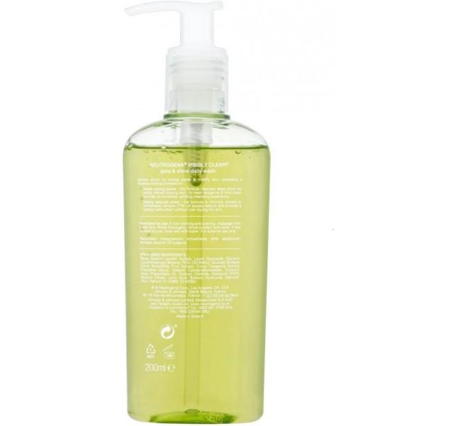 ژل شستشوی صورت روزانه نوتروژینا Neutrogena Visibly Clear Pore and Shine Daily Wash