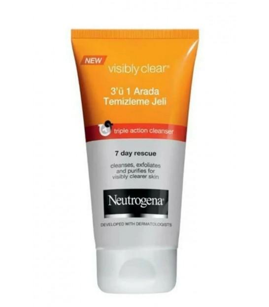 ژل شستشوی صورت ضد جوش نوتروژینا Neutrogena Visibly Clear Anti Blackheads