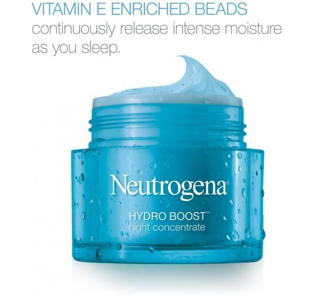 کرم شب آبرسان نوتروژینا Neutrogena Hydro Boost Night Concentrate Cream