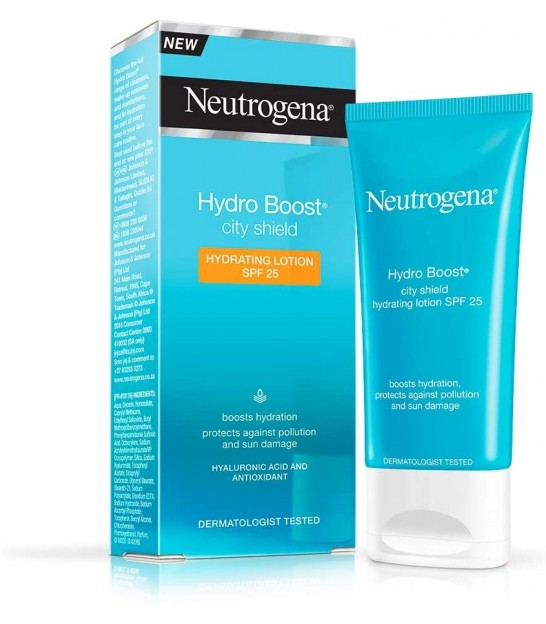 مرطوب کننده صورت نوتروژینا Neutrogena Hydro Boost City Shield Hydration Lotion Spf25