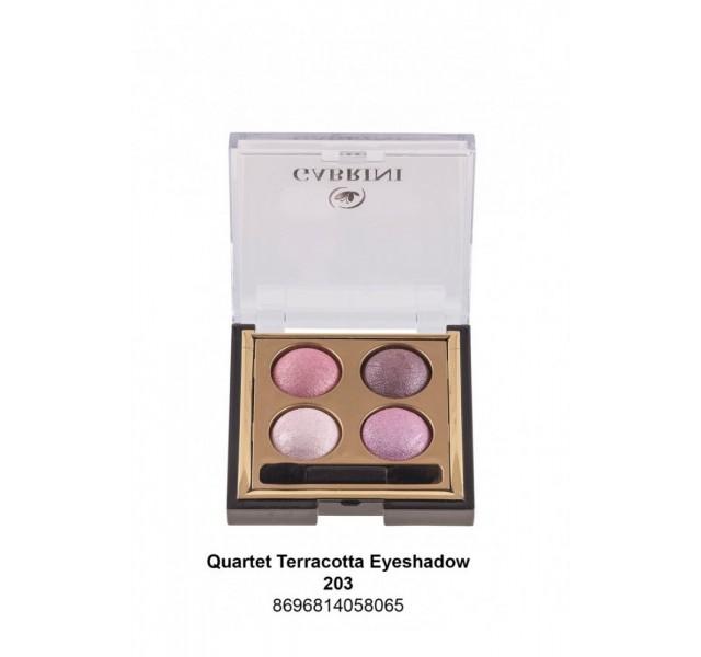 پالت سایه 4 رنگ گابرینی Gabrini Terracotta Quarted Eyeshadow
