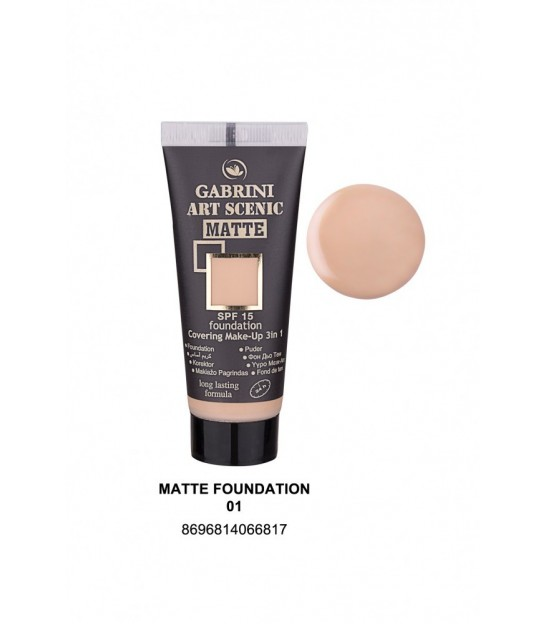 فاندیشن مات گابرینی Gabrini Matte Foundation 3in1 Touch Me