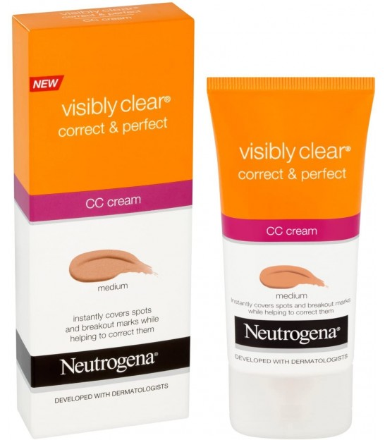سی سی کرم نوتروژینا رنگ متوسط Neutrogena NT CORRECT & PERFECT CC CREAM