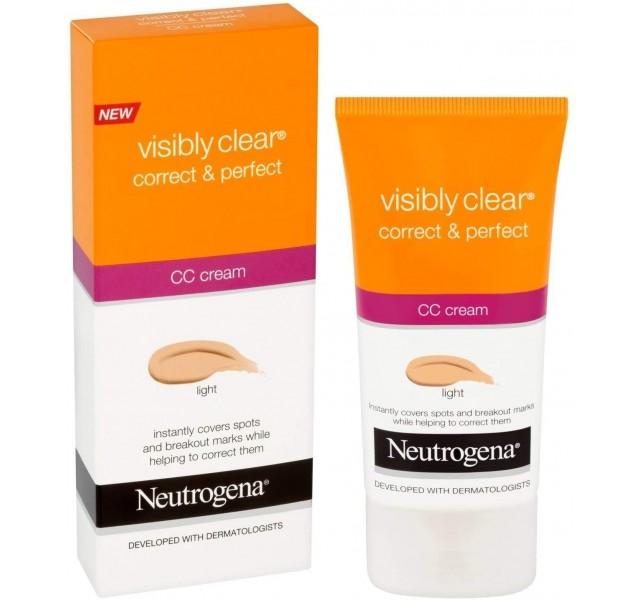 سی سی کرم نوتروژینا رنگ روشن Neutrogena NT CORRECT & PERFECT CC CREAM