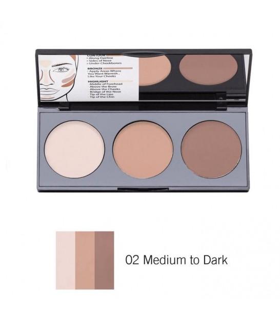 پالت کانتور کرمی نوت 02 Note Cosmetics Cream Contour Palette