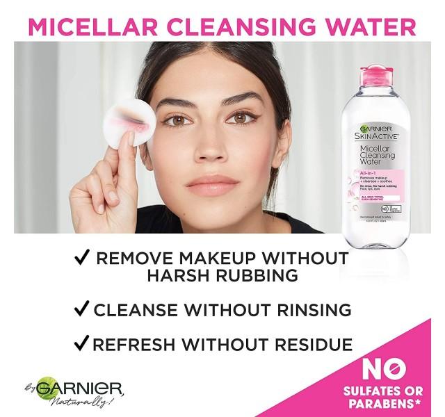 پک دو عددی پاک کننده صورت میسلار واتر گارنیر Garnier Micellar Cleansing Water All in 1