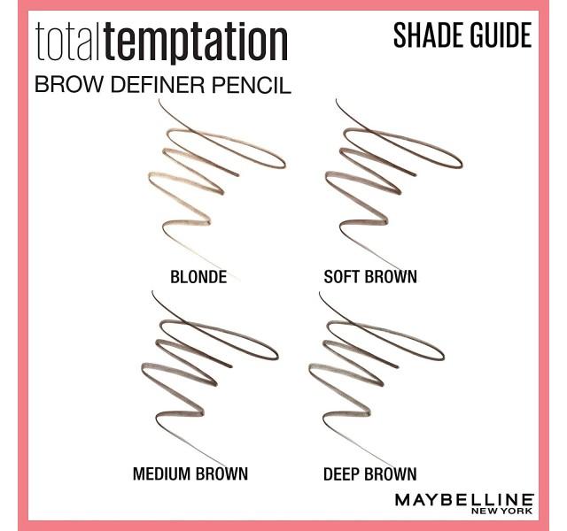 مداد ابرو توتال تمپتیشن میبلین Maybelline Total Temptation Eyebrow Definer Pencil