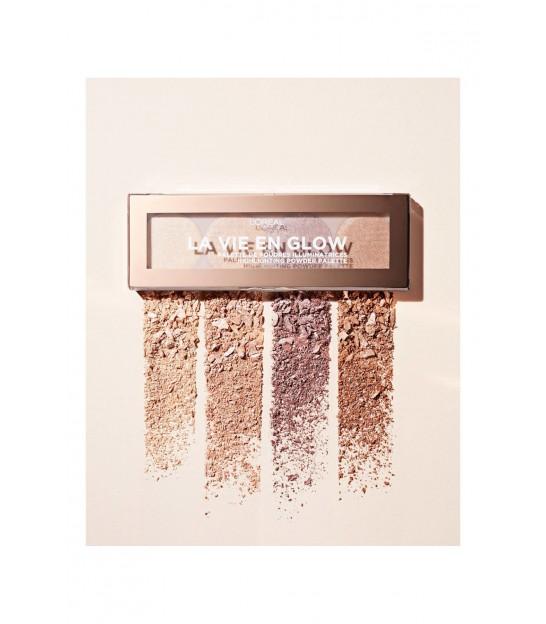 پالت هایلایتر لورال L'Oreal La Vie En Glow Highlighting Powder Palette