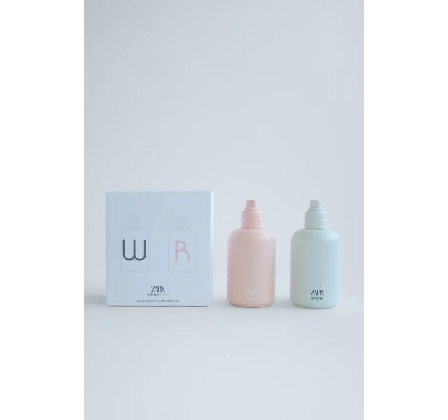 ست دو عددی عطر زنانه زارا ZARA WHITE + ROSE EDT 100 ML